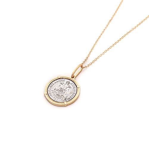 HKJCC Original Design Europa Und Amerika Ins Wind Damen Halskette Gold Münze Halskette Pullover Kette Gold Und Silber Farbe Lange Halskette