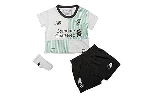 Liverpool FC 17/18 Away Infant Football Kit - White - size 12-18M