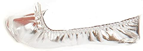 Turkish Emporium Bauchtanz Schläppchen Kostüm schuhe (38, Silber) (Über Bauchtanz Kostüme)