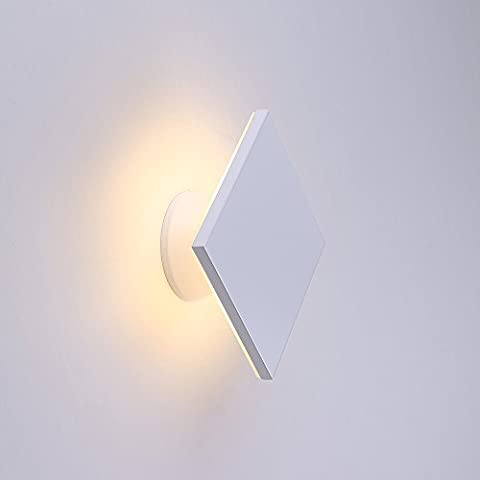Lanfu Wall Lamp Warm White Elegant and Modern Design LED Wall Lights Ideal for Bedroom, Living Room, Staircase And Lounges 6 W, 150 * 150 * 74MM [A +] [Energy Class A +]