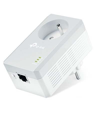 TP-Link TL-PA4015P CPL 600 Mbps avec Prise Intégrée et Ports Ethernet, Compatible avec tous les Anciens Modèles et toutes les box internet