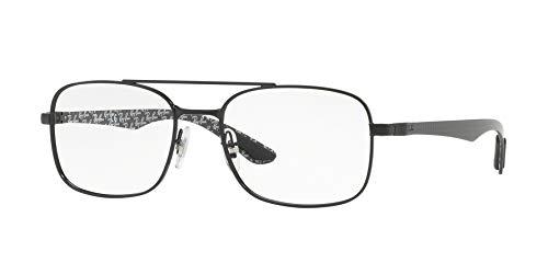 Rayban Herren Brillengestell RX8417, Schwarz (Demi Gloss Black), 55