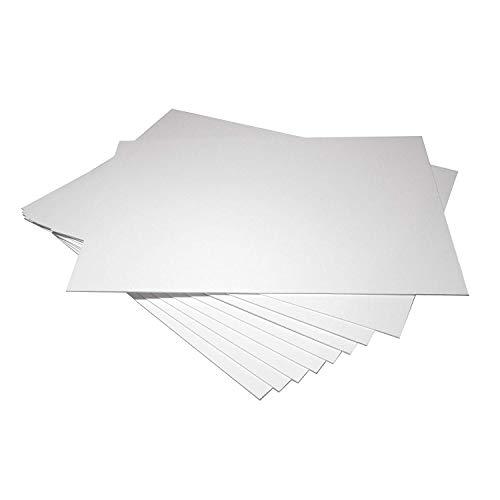 PVC-Platten. Hart und Flexibel. Dicke:1mm. Matte Weiße Farbe. Ideal für Digitaldruck und Siebdruck. Größe zur Auswahl. Kunststoffeplatten in Deutschland hergestellt. Professionelle Qualität. (DIN A4 (210x297mm), 30 Platten (1mm dicke), Matte Weiße)