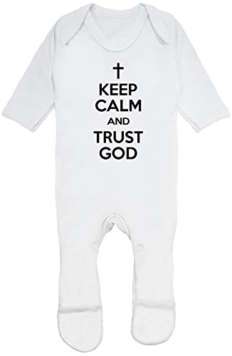 Hippowarehouse Keep Calm and Trust God Baby Romper All in one Piece Unisex