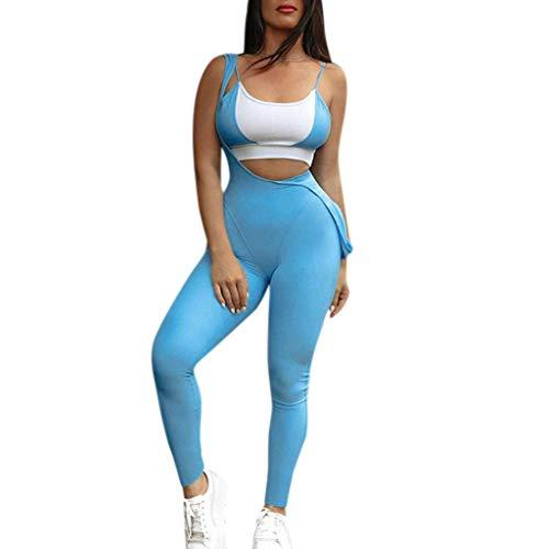 Battnot❤ Damen Jumpsuit Trainingsanzug Latzhose Sport Leggings Gymnastik Outdoor Lange Yogahosen, Frauen Sports Hosen Fitness Workout Athletische Laufen Dünne Enge Bleistift Hosen Womens Bottom Pant