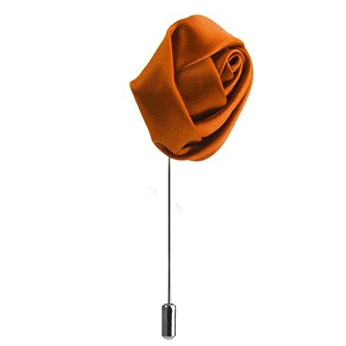 Rose -Blume förmig Brosche Ansteckblume Brosche Hochzeit Dekor Zubehör für Unisex - Orange