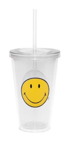 Zak Designs 6187-0852 Smiley double wall ice Trinkglas 49 cl