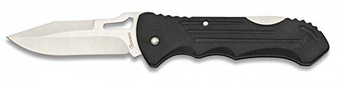 Albainox Taschenmesser mit Back-Lock 8cm Klinge Schwarz Kunststoff Griffschalen