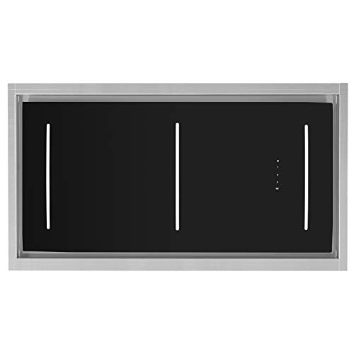 Decken-Einbau-Dunstabzugshaube, Lüfterbaustein (110cm, Edelstahl, 4 Stufen, schwarzes Glas, LED-Beleuchtung, SensorTouch Steuerung, Abluft oder Umluft) INTEGRA110 - KKT KOLBE