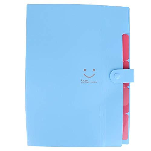 Zyyini Erweitern von Dateiordnern, File Organizer Letter Size 5 Pockets Erweiterbare Datei, Portable File Folder, Accordion Document Folder Organizer-Ständer für Business/Office/Study/Home