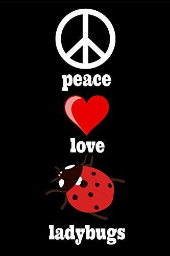 Peace Love Ladybugs: Ladybird Homework Book Notepad