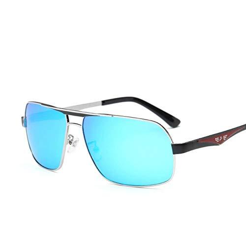 Getwli Sonnenbrille Männer polarisierte quadratische große Kasten-Art- und Weisesonnenbrille-Legierungs-männliche Gläser Polarisations-treibende Spiegel