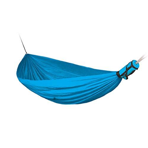 JLJ Outdoor-Freizeit Leichte tragbare Hängematte Geeignet für Reise-Picknick Klettern Single Double Hammock 3 Farben (Farbe : Blau, größe : 300cm×190cm)