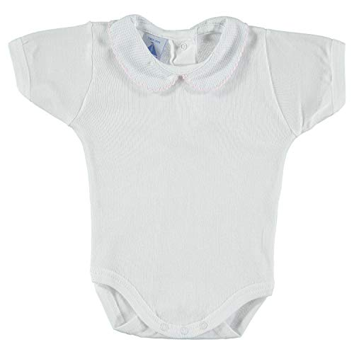 babidu Baby-Mädchen Unterwäsche-Set Body M/C Cuello Bebe Pique, Rosa, 6 Monate