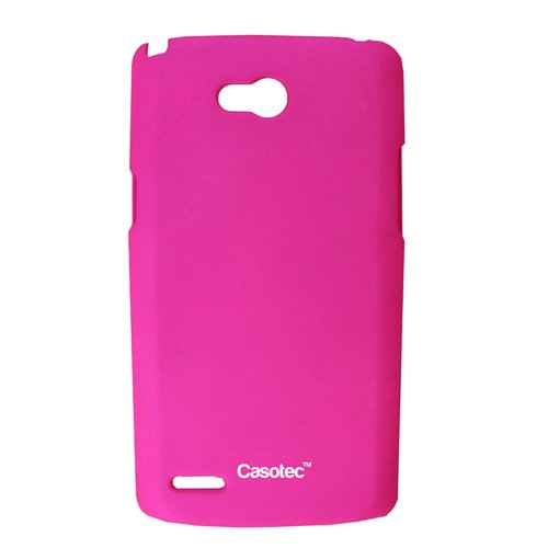 Casotec Ultra Slim Hard Shell Back Case Cover for for LG L80 - Hot Pink  available at amazon for Rs.125