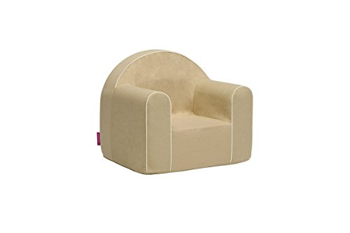Mini Kindersessel Kinder Babysessel Baby Sessel Sofa Kinderstuhl Stuhl Schaumstoff Umweltfreundlich (Hellbraun)
