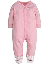 6dbef72f2e CARETOO Unisex Baby Schlafstrampler Bärchen, Baumwolle Pyjamas Cartoon  Overalls mit 0-12 Monate
