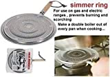 2 x SIMMER RING PAN MAT HEAT DIFFUSER FOR ELECTRIC OR GAS COOKER - DIAMETER 21cm by Simmer Ring