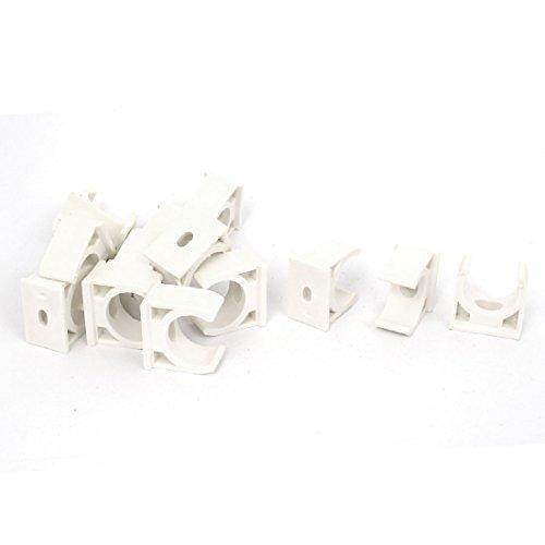 Preisvergleich Produktbild Sourcingmap® 20mm Durchmesser PVC Rohr Trinkwasser, Schlauchschellen Clips Weiß 15Stück