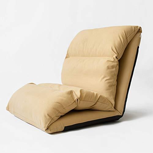 Sitzsäcke Faltbarer Fußboden-Stuhl, der Faule Sofabett-Sitz-Couch-Liege, Aufenthaltsraum-Recliner-Wohnzimmer-Balkon Sich entspannt (Farbe : Khaki) -