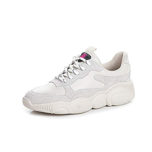 Unisex Uomo Donna Scarpe da Ginnastica Corsa Sportive Fitness Running Sneakers Bianco (39 EU, Bianco 8862)