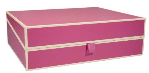 Semikolon Dokumentenbox pink (rosa)   Sammel-Box und Aufbewahrungsbox für Dokumente im A4 Format   geräumige Box im Format 31,5 × 26 ×...