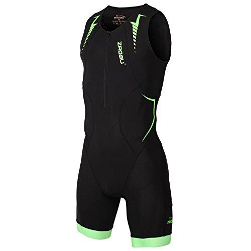 ZAOSU Herren Trisuit Z-Solar | Premium Triathlon Einteiler mit hoher Kompression und komfortablem Radpolster für den Wettkampf, Größe:L