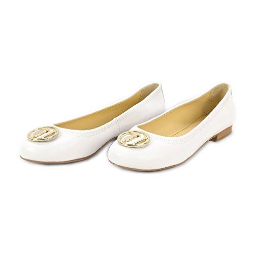 Trussardi Jeans 79s07849, Ballerines Femme Blanc Cassé (01 Bianco)