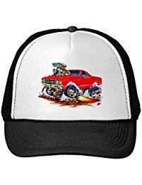 Funny 1971-72 El Camino Red 4X4 Monster Truck Trucker Hat