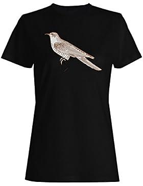Arte Hermoso Retro Del Pájaro camiseta de las mujeres o208f
