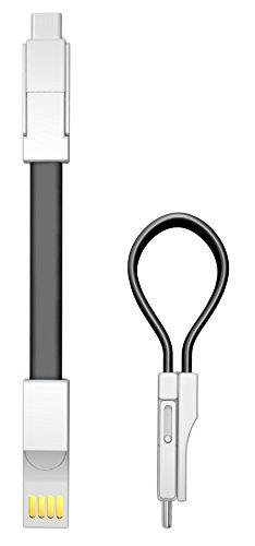 innoGadgets USB Schlüsselanhänger Ladekabel 3in1 by Ladekabel für JEDES Gerät - Micro-USB, USB-C, Lightning - für Apple und Android | Blitzschnelles Laden + GRATIS E-Book