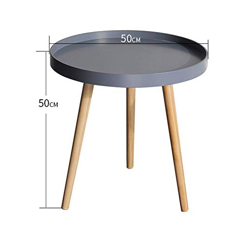 HYLH Side Tables,Tables Coffee Tables Round Side Tables Modern End Tables Occasional Tea Tables Nesting Tables for Balcony and Living Room Set (Color : Large disc Grey) -