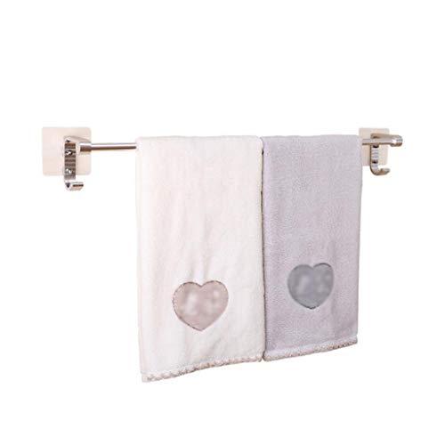 M-YN Handtuchhalter Wand Bad, Handtuchhalter Schienenraum Aluminium Handtuchhalter Handtuchhalter Wandhalter for Badezimmer Küche Self Adhesive 60CM