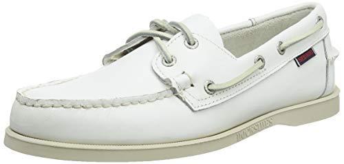 Sebago Docksides FGL, Scarpe da Barca Uomo, Bianco (White 911), 44 EU
