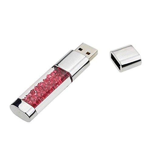 FeliSun 16GB 32GB 64GB Neue Schmuck Kristall USB-Flash-Laufwerk USB 3.0 Flash Drive USB 3.0 Memory Stick Speicherstick Externer Speicher USB-Stick Für Geburtstagsgeschenke, Weihnachtsgeschenke, Hochzeitsgeschenke