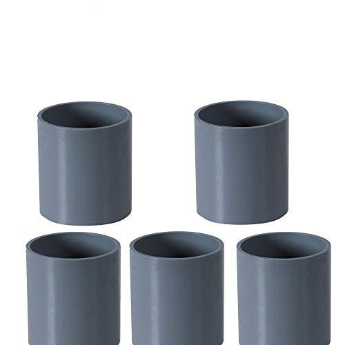 PVC Rohr 32 sowie Rohrverbinder Winkel Kniestück Muffen T-Stück Kappen (5 x Muffen Ø32mm)