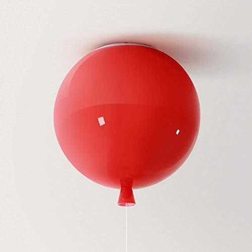 LJ Deckenleuchte Mit Reißverschluss DIY Bunte Luftballon-Deckenleuchten, E27 Kreative Kinderzimmer-Deckenleuchte Nutzfläche Bar Schlafzimmer-Rot-C 30x30cm Luxuriöse Leben (Leben Luftballons Größe)