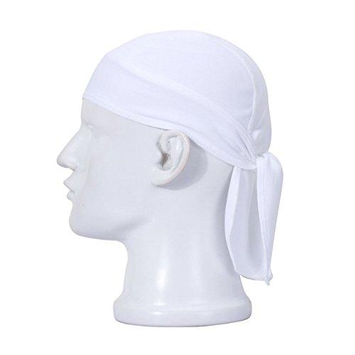 Swallowuk Sport Cap Breathable Outdoor Wandern Kopftuch Piratenhut Stirnband (weiß)