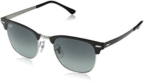 Ray-Ban Unisex-Erwachsene 0RB3716 900471 51 Sonnenbrille, Silver Top Black/Lightgreygradientdarkgrey
