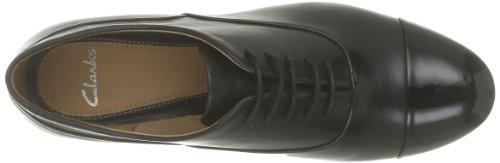 Clarks Hotel Disco, Chaussures à lacets femme Noir (Black Leather)