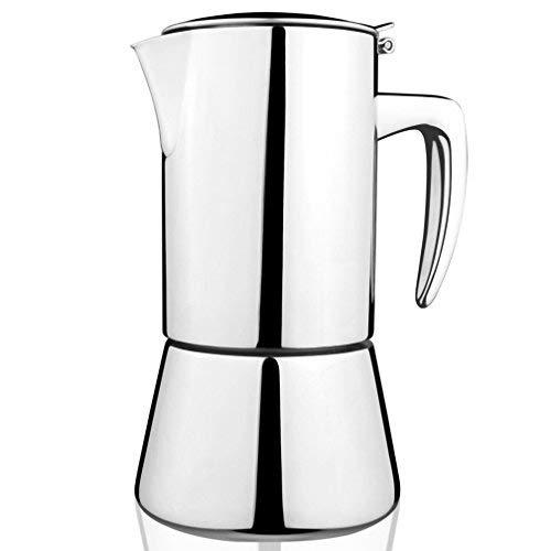 bournetech Super High Qualit?t Edelstahl Moka Express Espressokocher Moka Topf, spezielle Design von Kaffee-Liebhaber (4?Cup 200?ml)