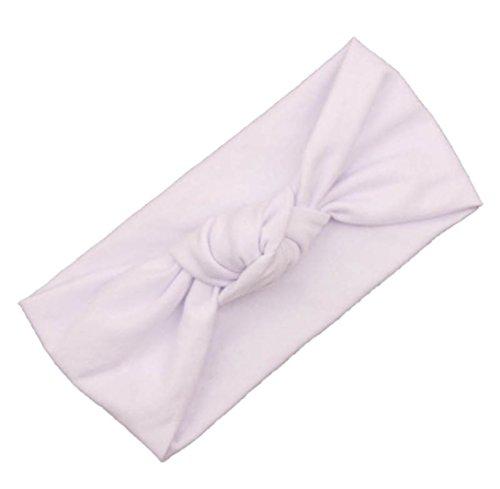 Fulltime(TM) Bébé Tout Filles Mignonnes Enfants Bow Headband Turban Knot Lapin Bandeau Cheveux Accessoires (H)