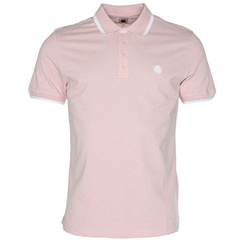 Pretty Green Men's Pink Short Sleeve Polo Shirt Pink