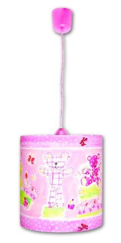 Waldi Leuchten Kinder Pendelleuchte Designers Guild Teddy Uno, Rosa, Papier, 70232.0