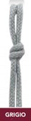 lacci stringhe per scarpe,forma tondo tonde tondi, lunghezza 60 cm ,75 cm ,90 cm,vari colori ,confezione da 1 paio (90 cm, grigio)