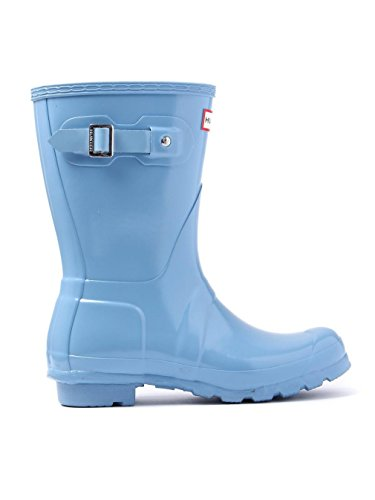 Hunter WOMENS ORIGINAL SHORT GLOSS - Stivali di gomma non imbottiti da donna Blau (Pale Blue)