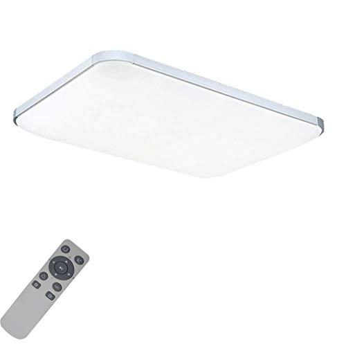 MYHOO 72W Dimmbar Ultraslim LED Deckenleuchte Modern Deckenlampe Schlafzimmer Küche Flur Wohnzimmer Lampe (Silber Dimmbar 3000-6500K)
