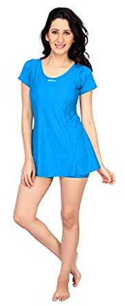 Comix Swim Lycra Fabric Women Solid Swimsuit(AGSPL-3182-AIY-SW-24-BLUE-L)