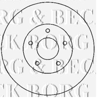 Borg & Beck BBD4821 Brake Disc (A Pair)