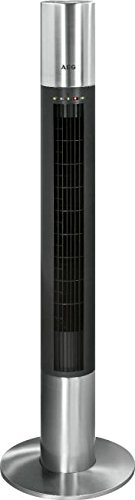 AEG 520041 Tower Ventilator mit FB, Schwarz